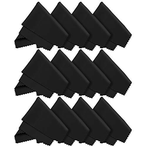 10x Mikrofaser Reinigungstücher 18x15 cm zur Reinigung von LED Bildschirm, Tablet, Smartphone, Laptop, Notebook, Touchscreen Display, Brillen, Kamera Objektive, Glas. Tücher auch zum Reinigen von macbook, ipad und iphone (Apple)
