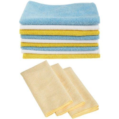 AmazonBasics Mikrofaser-Reinigungstücher, 24 Stück & Mikrofaser-Reinigungstücher, dick, 3 Stück