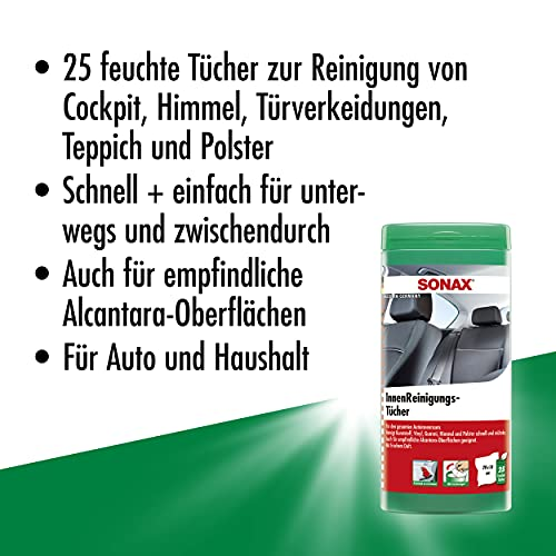 SONAX 412200 InnenReinigungsTücher Box (enthält 25 Tücher) - 3