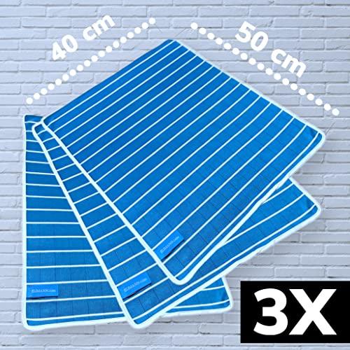 3er Set Bambus Hochglanz Reinigungstücher Bambustuch Poliertuch Fenstertuch Glaspoliertuch Geschirrtuch Putztuch antibakteriell für streifenfreien fusselfreien Glanz im Haushalt Büro und Auto - 2