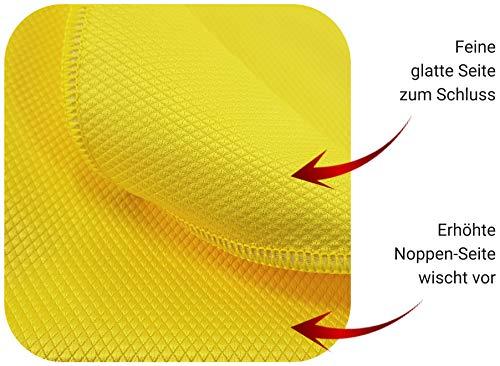 Fenster streifenfrei putzen mit Fenstertuch microfein – Professionelles Microfasertuch Glasreinigung – Modernes Fensterputztuch Glas Scheibe – 3 Fensterputzer Tücher - 3