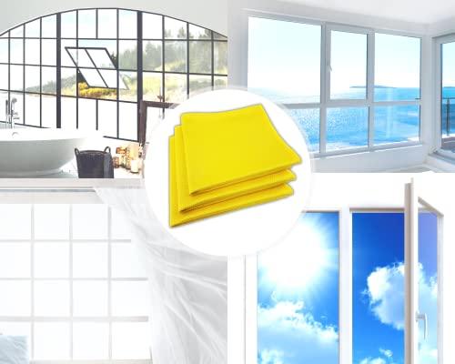Fenster streifenfrei putzen mit Fenstertuch microfein – Professionelles Microfasertuch Glasreinigung – Modernes Fensterputztuch Glas Scheibe – 3 Fensterputzer Tücher - 6