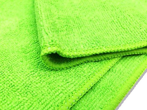 10er Packung Mikrofasertücher in orange & grün in Premium-Qualität – Größe L 40cm x 40cm (16″x16″) – streifenfrei reinigendes Putztuch für Ihr Haus & Auto – fusselfrei und ultra-weich – bis zu 5x saugfähiger als das Eigengewicht – 100%ige Geld-zurück-Garantie - 5