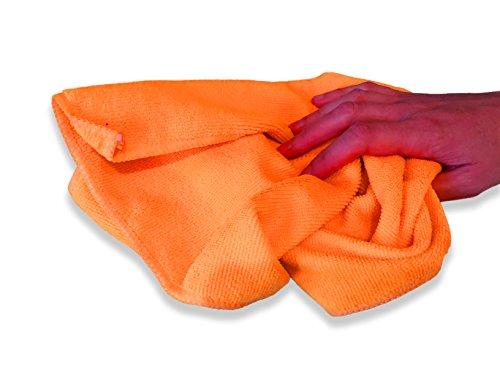 10er Packung Mikrofasertücher in orange & grün in Premium-Qualität – Größe L 40cm x 40cm (16″x16″) – streifenfrei reinigendes Putztuch für Ihr Haus & Auto – fusselfrei und ultra-weich – bis zu 5x saugfähiger als das Eigengewicht – 100%ige Geld-zurück-Garantie - 6