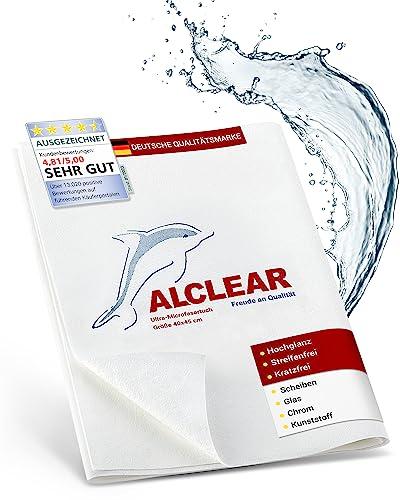 ALCLEAR 950001 Ultra-Microfaser Fenstertuch Scheibentuch 40x45 cm weiß