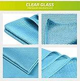 """AC AutoClean Premium Microfaser-Tuch """"CLEAR GLASS"""" – Streifenfrei und fusselfrei – Perfekt für Autoscheiben Glas-Reinigung Spiegel-Reinigung Fenster Trockentuch - 2"""