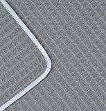 Sinland mikrofasertuch waschen microfasertuch reinigen für Auto Geschirr Spiegel Fenster Glas 33cmx33cm 6 Stück grau - 4