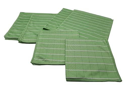 AQUA LASER BAMBUS Mikrofaser Glas - und Fenstertücher Poliertuch 6er Set