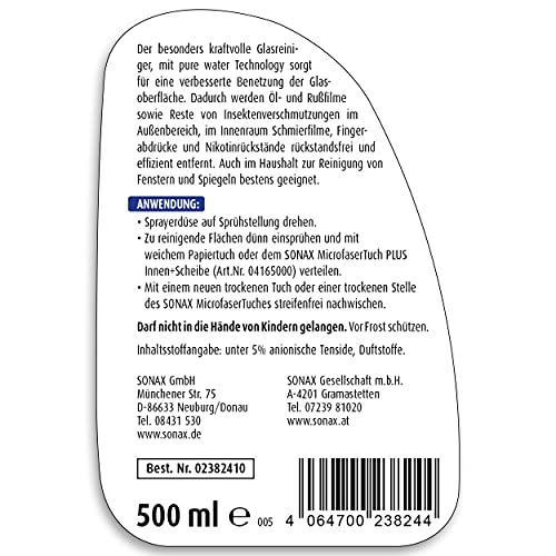 SONAX 238241 XTREME Scheibenklar NanoPro Scheibenreiniger, 500 ml - 2