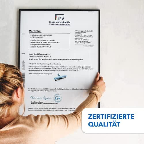 Abzieher und Fensterwischer in einem, in 3 Größen: 25 cm, 35 cm und 45 cm | inklusive einer Gratisprobe Profi-Glasreiniger (25 cm) - 3