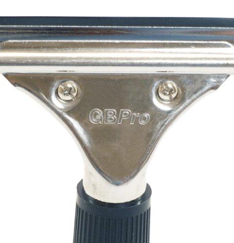 GBPro Edelstahl Fensterwischer, Abzieher (fensterabzieher) mit Gummilippe 25cm - 7