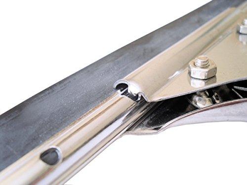 GBPro Edelstahl Fensterwischer, Abzieher (fensterabzieher) mit Gummilippe 35cm - 6