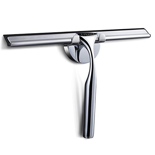 E-PRANCE® Bad- und Duschabzieher Badezimmerwischer Bad- und Duschwischer mit Wandaufhänger, Edelstahl