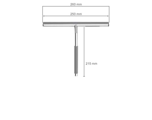 Nicol 2660300 Kai Duschabzieher für Glasduschwand mit gummiertem Griff und Aufbewahrungshaken - 6