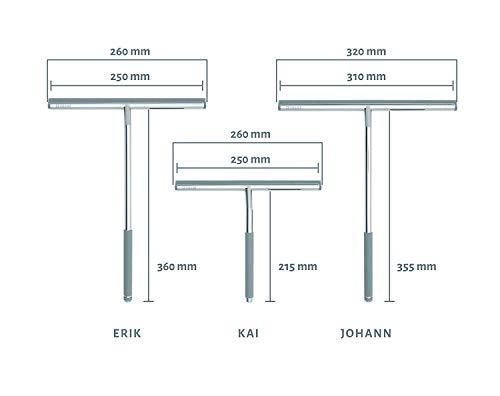 Nicol 2660300 Kai Duschabzieher für Glasduschwand mit gummiertem Griff und Aufbewahrungshaken - 7
