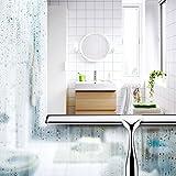 Fozela Rakel Dusche / Edelstahl Fensterwischer / Duschabzieher Edelstahl / Duschwischer mit Halterung für Duschkabine, Glasduschwand - 4