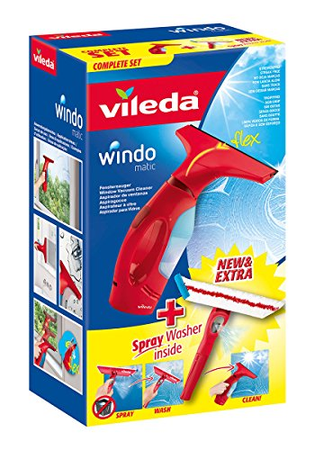 Vileda Windomatic Fenstersauger mit Spray Einwascher - 11