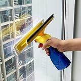 EVERTOP Fenstersauger fensterreiniger Bad-, Dusch-, Glasabzieher, mit Spray Einwascher, integrierter Sprühflasche, 4 Tüche, 300 ml Sprüflasche - 6