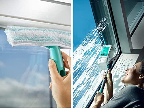 Leifheit 51003 Fenstersauger Dry und Clean mit Stiel/Einwascher, Plastik, weiß, 23 x 10 x 47.5 cm - 5