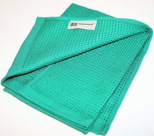 TUPPERWARE FaserPro Glas Blau Fenster Mikrofasertuch T22 Putztuch Glastuch