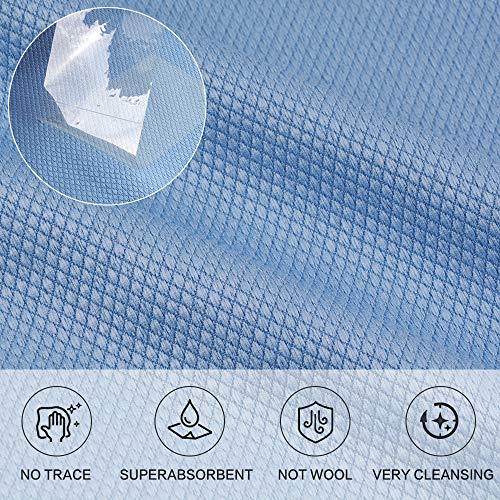 Microfaser Glasreinigungstuch, Glas Putztuch edelstahl reinigungstücher 6 Stück (Bluex6, 40cmx40cm) - 3