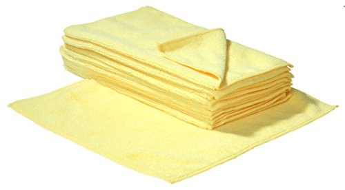 SBS Mikrofaser-Reinigungstücher – 40 x 40 cm – Weiß – 10 Stück - 3