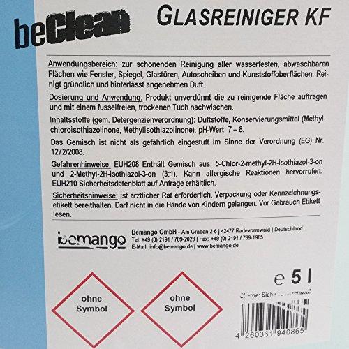 """Glasreiniger beClean """"clear"""" 5l Kanister mit einer Sprühflasche - 4"""