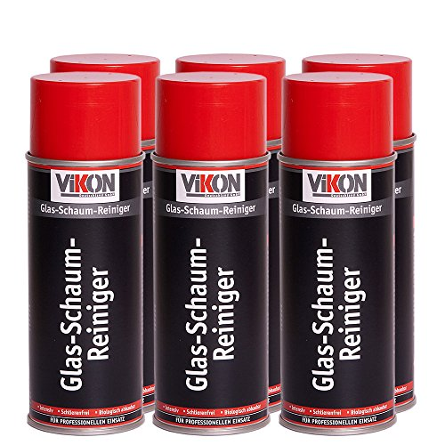 6 Dosen VIKON Glas-Schaum-Reiniger Spray 400 ml (Scheibenreiniger)