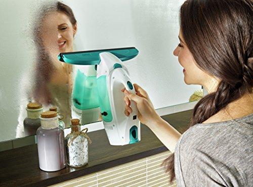 Leifheit 51004 Fenstersauger Dry&Clean mit Saugdüse 17cm Fenstersauger, Plastik, weiß, 23 x 10 x 34 cm - 6