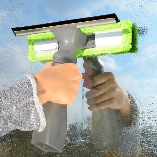 Sichler Haushaltsgeräte Fensterreiniger mit integrierter Sprühflasche - 2