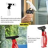LESOLEIL Fenstersauger mit Einstellbar Stiel und Einwascher für Fenster Spiegel Autoscheiben Duschabtrennungen Küchenarbeitsflächen Rot - 2
