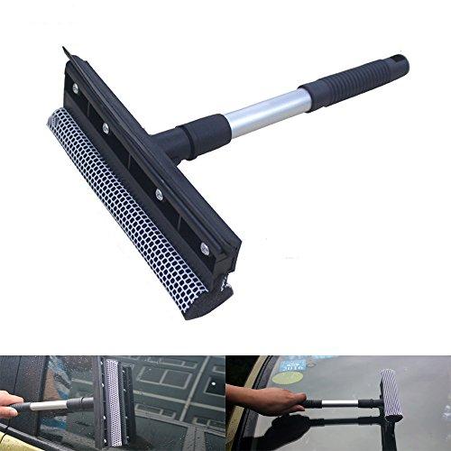Boonor Multifunktions Gummi Fensterwischer Schwamm Waschen Fensterreinigung Andrückrakel Fensterputzer - 2