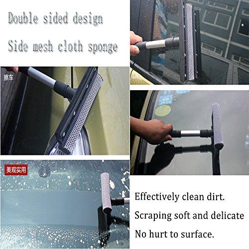 Boonor Multifunktions Gummi Fensterwischer Schwamm Waschen Fensterreinigung Andrückrakel Fensterputzer - 4