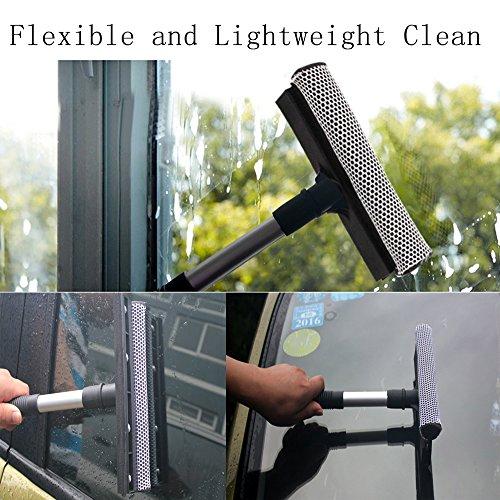 Boonor Multifunktions Gummi Fensterwischer Schwamm Waschen Fensterreinigung Andrückrakel Fensterputzer - 5