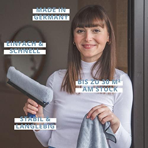 Ha-Ra Fensterwischer 32cm & 1 x Crotan XXL Trockentuch Microfaser 50 x 68 cm - 2