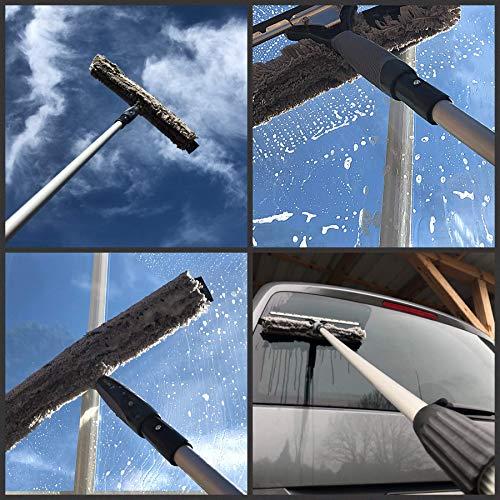 Teleskop-Fensterreiniger Profi-Set mit Unger-Gummilippe, Kombi-Fensterwischer 40cm, Drehgelenk und Alu-Teleskopstange 6m – auch für Wintergarten, Solar und Photovoltaik-Reinigung - 3
