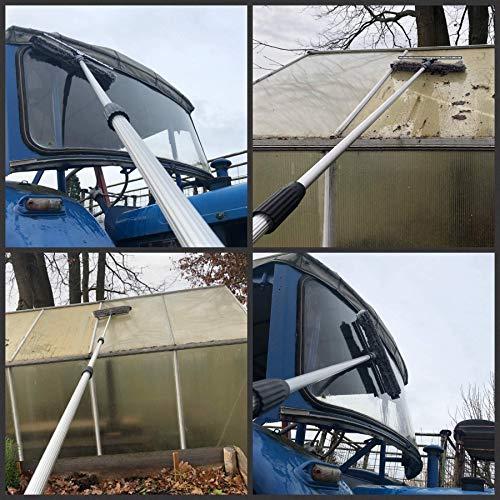 Teleskop-Fensterreiniger Profi-Set mit Unger-Gummilippe, Kombi-Fensterwischer 40cm, Drehgelenk und Alu-Teleskopstange 6m – auch für Wintergarten, Solar und Photovoltaik-Reinigung - 5