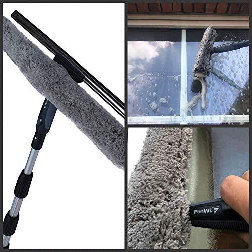 Teleskop-Fensterreiniger Profi-Set mit Unger-Gummilippe, Kombi-Fensterwischer 40cm, Drehgelenk und Alu-Teleskopstange 6m – auch für Wintergarten, Solar und Photovoltaik-Reinigung - 6