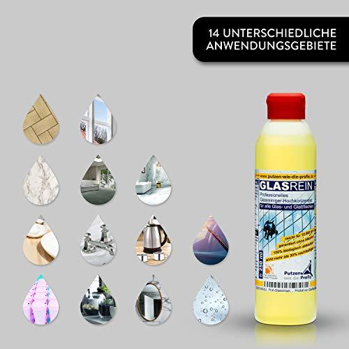 Profi-Glasreiniger Konzentrat, 500 ml | Fensterreiniger mit Lotuseffekt | Für Glatt- und Glasflächen | Tierversuchsfreies, umweltfreundliches Produkt von GlasRein - 3