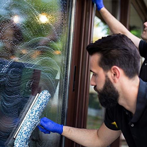 Abzieher und Fensterwischer in einem, in 3 Größen: 25 cm, 35 cm und 45 cm | inklusive einer Gratisprobe Profi-Glasreiniger - 3